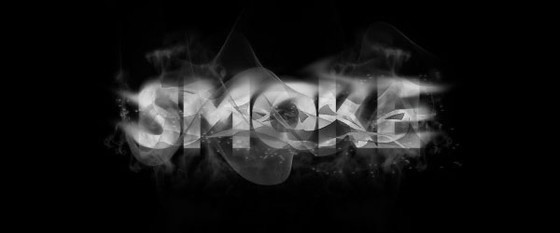 Create Smokey Typography