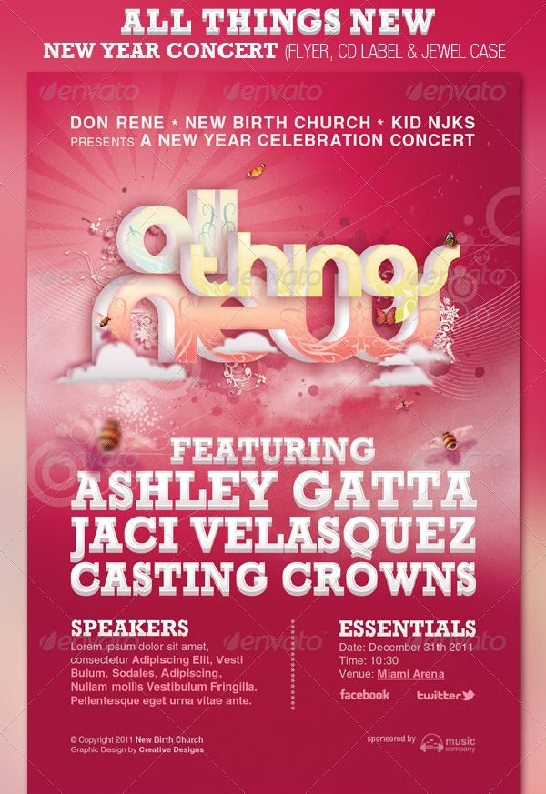 All Things New – New Year Concert Flyer Template