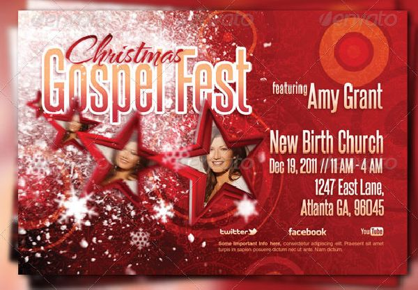 Attention Grabbing Church Flyer Design Templates To Promote Christmas Concert