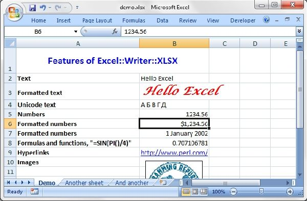 Pear Excel Writer