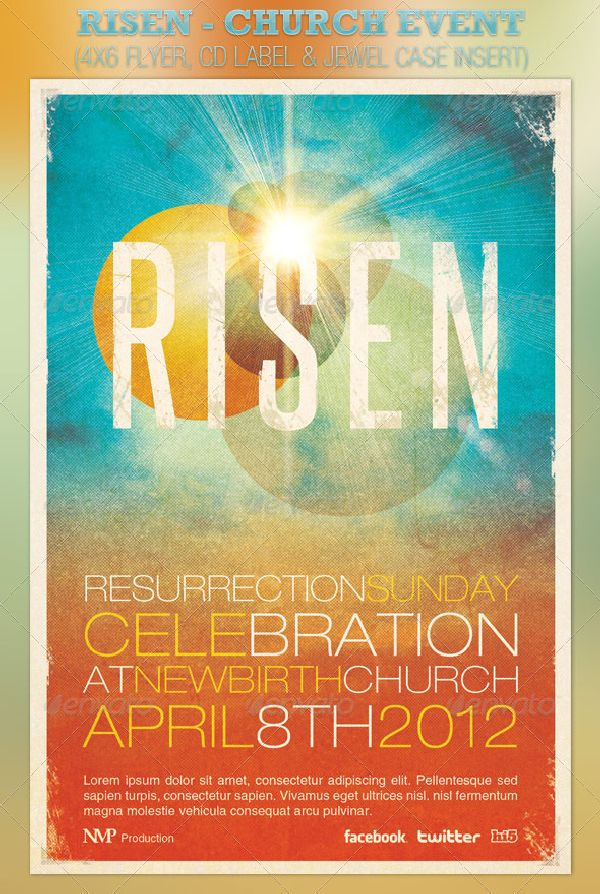 Risen Church Event Flyer and CD Template