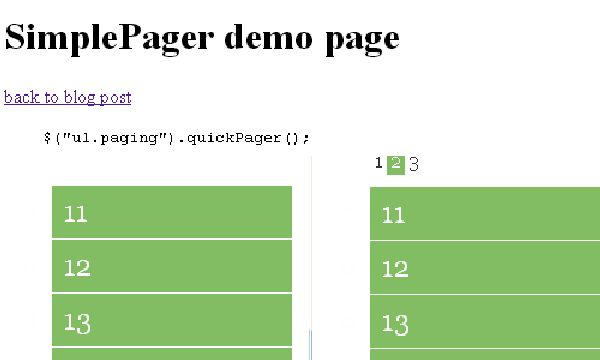 Simple Pager Pagination