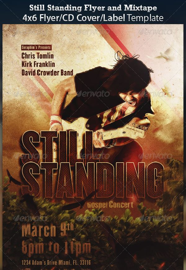 Still Standing Gospel Concert Flyer and CD