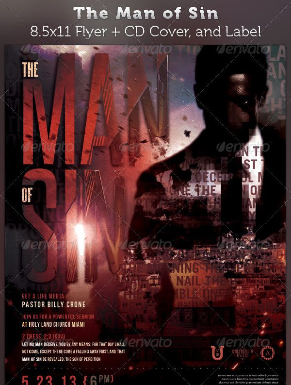 The Man of Sin Full Page Flyer and CD Cover