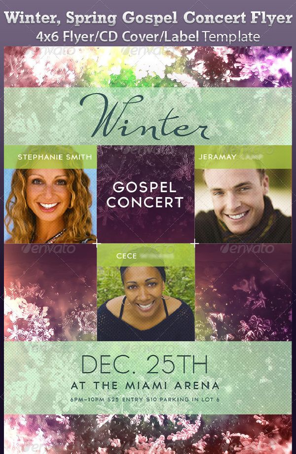 Winter Spring Gospel Concert Flyer