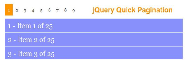 jQuery Quick Pagination