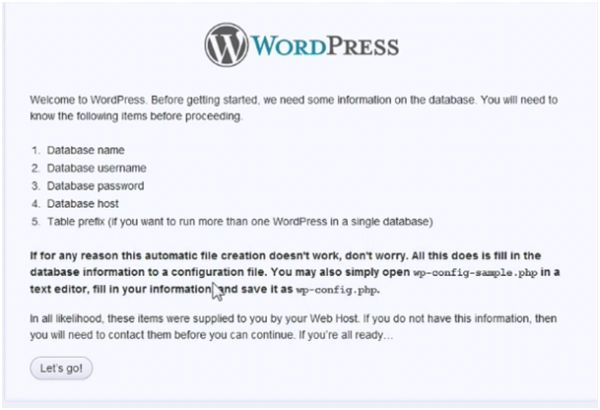 WordPress talk to its database