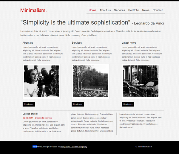 Most Stunning CSS and HTML5 Templates (1)