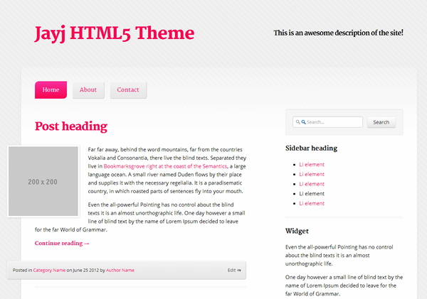 Most Stunning CSS and HTML5 Templates (10)