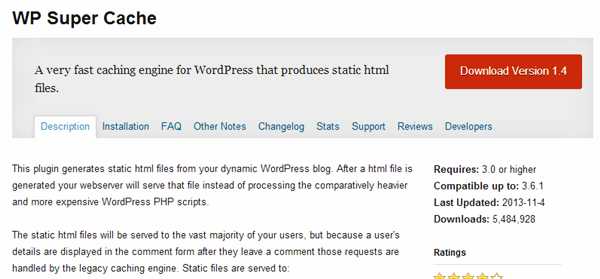 WordPress Cache plugins (2)