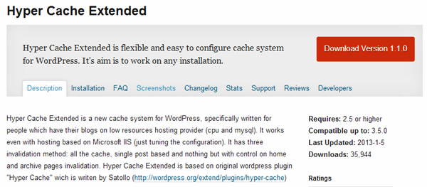 WordPress Cache plugins (4)