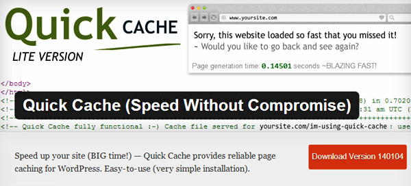 WordPress Cache plugins (6)