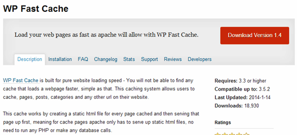 WordPress Cache plugins (7)