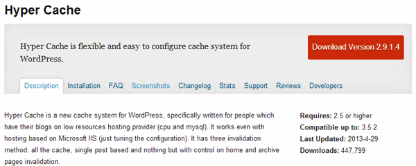 WordPress Cache plugins (8)