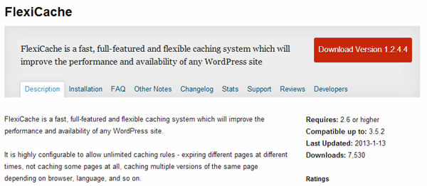 WordPress Cache plugins (9)