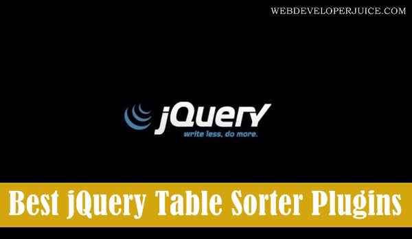 Best jQuery Table Sorter Plugins to Make Web App User Friendly1.1